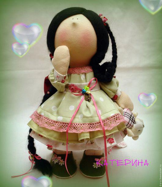"""Человечки ручной работы. Ярмарка Мастеров - ручная работа. Купить Кукла текстильная """"Жгучая брюнетка"""". Handmade. Комбинированный, кукла"""