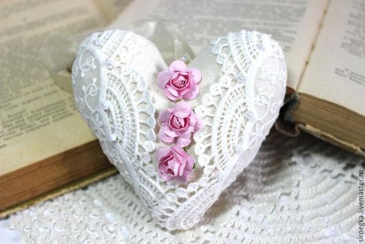 Куклы Тильды ручной работы. Ярмарка Мастеров - ручная работа. Купить Сердце. Handmade. Бежевый, подарок на день рождения