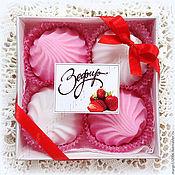 Мыло ручной работы. Ярмарка Мастеров - ручная работа Зефир фруктовый клубника или шоколадный набор мыла смотрите фото. Handmade.