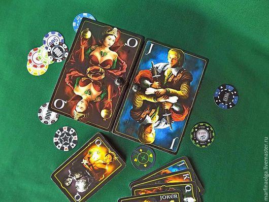 шкатулка для карт `На грани...Ольги Марфиной, купить шкатулку для карт ,ручная работа.