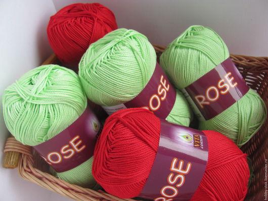 Вязание ручной работы. Ярмарка Мастеров - ручная работа. Купить Пряжа Rose Vita cotton. Handmade. Пряжа
