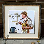 """Картины и панно ручной работы. Ярмарка Мастеров - ручная работа Картина вышивка крестом """"Универсальный рецепт"""". Handmade."""