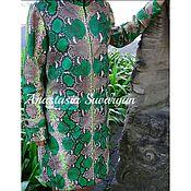 Одежда handmade. Livemaster - original item Women`s cloak of genuine Python leather. Handmade.