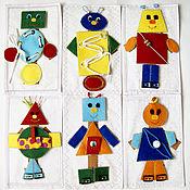 """Куклы и игрушки ручной работы. Ярмарка Мастеров - ручная работа Настольная игра """"Роботы"""". Handmade."""
