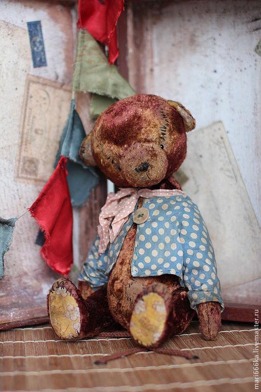 Мишки Тедди ручной работы. Ярмарка Мастеров - ручная работа. Купить Филипка.. Handmade. Коричневый, плюш винтажный