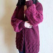 Одежда ручной работы. Ярмарка Мастеров - ручная работа Кардиган вязаный женский Ягодный микс. Handmade.
