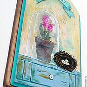 """Картины и панно ручной работы. Ярмарка Мастеров - ручная работа Панно (вешалка, ключница) """"Spring flower"""". Handmade."""