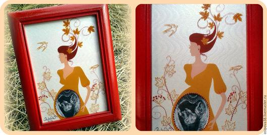 """Подарки для новорожденных, ручной работы. Ярмарка Мастеров - ручная работа. Купить """"Княжна Осень"""". Handmade. Ярко-красный, новорожденным, бордовый"""