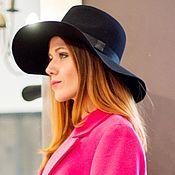 Аксессуары handmade. Livemaster - original item Wide-brimmed Fedora hat with a soft brim. Handmade.