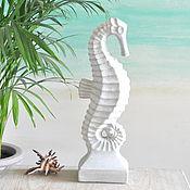 Для дома и интерьера handmade. Livemaster - original item Statuette seahorse 42cm concrete decor in marine style. Handmade.
