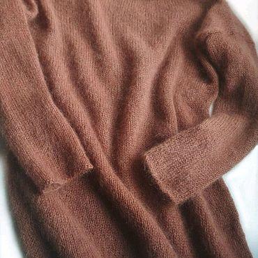 Одежда ручной работы. Ярмарка Мастеров - ручная работа Пуловер из итальянского кидмохера. Цвет розовое какао.. Handmade.