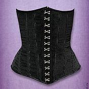 Одежда ручной работы. Ярмарка Мастеров - ручная работа Корсет под грудь на крючках. Handmade.