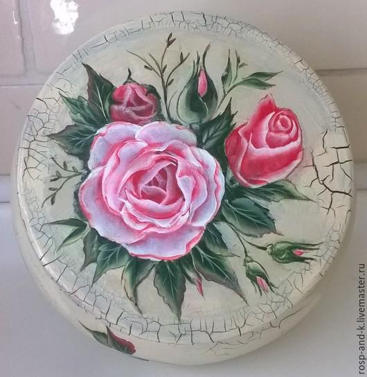 Шкатулки ручной работы. Ярмарка Мастеров - ручная работа. Купить шкатулка розы. Handmade. Роспись, цветы, акриловые краски