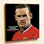 Картины и панно handmade. Livemaster - original item Painting Pop Art Wayne Rooney. Handmade.