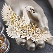 Украшения handmade. Livemaster - original item Brooch bird, the Swan. Handmade.