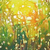 Картины и панно ручной работы. Ярмарка Мастеров - ручная работа Батик картина. Солнечное настроение. Handmade.