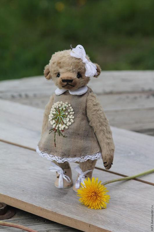 Мишки Тедди ручной работы. Ярмарка Мастеров - ручная работа. Купить Тедди мишка. Одуванчик. Handmade. Белый, мишка