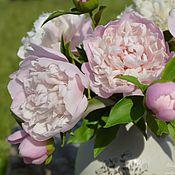 Цветы и флористика handmade. Livemaster - original item Peony bouquet from polymer clay.. Handmade.