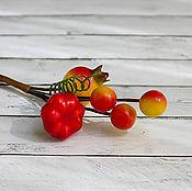Элементы для скрапбукинга ручной работы. Ярмарка Мастеров - ручная работа Букетик с оранжевым шиповником мини, 1 шт.. Handmade.