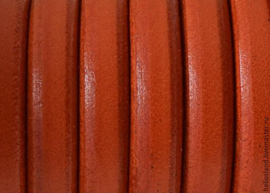 Для украшений ручной работы. Ярмарка Мастеров - ручная работа. Купить Кожаный шнур REGALIZ оранжевый. Handmade. Регализ