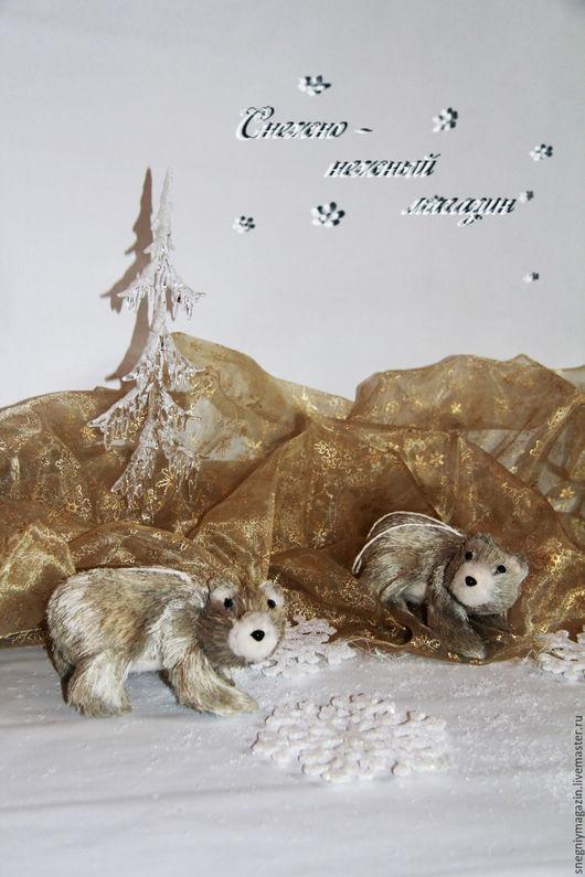 Игрушки животные, ручной работы. Ярмарка Мастеров - ручная работа. Купить Белые медведи. Handmade. Бежевый, белый медведь, солома