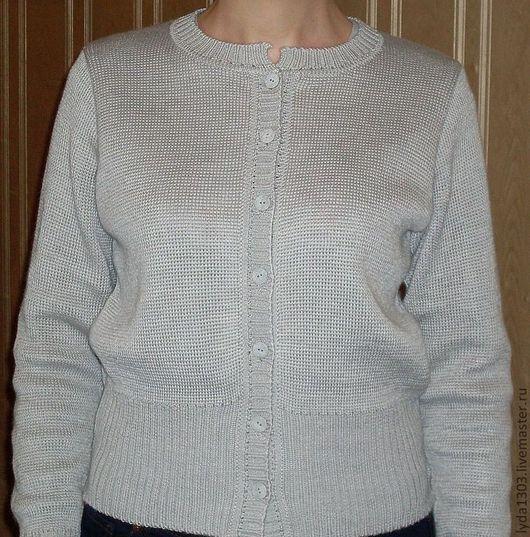 Кофты и свитера ручной работы. Ярмарка Мастеров - ручная работа. Купить Кардиган серый-2. Handmade. Серый, кардиган женский