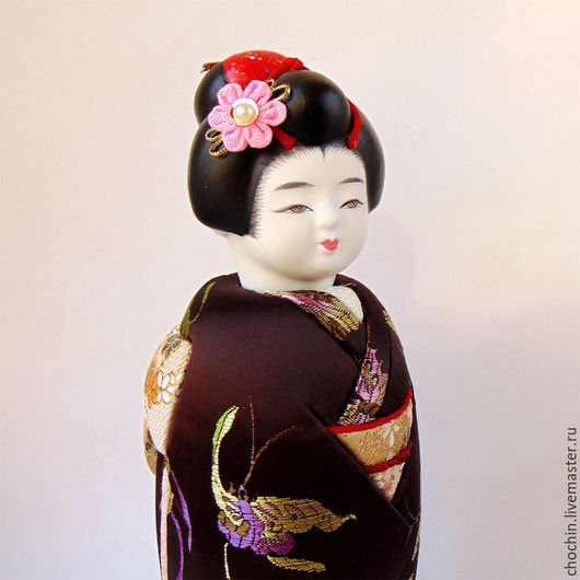 авторские куклы коллекционные японские куклы купить в москве японские интерьерные куклы традиционные японские куклы кимекоми kimekomi doll купить куклу в японском костюме chochin Мария Ильницкая