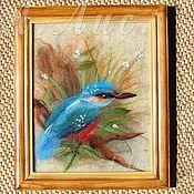 """Картины и панно ручной работы. Ярмарка Мастеров - ручная работа """"Зимородок"""". Handmade."""
