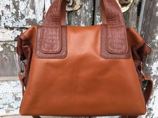 Женские сумки ручной работы. Ярмарка Мастеров - ручная работа. Купить М 352. Handmade. Натуральная кожа, комбинированная сумка