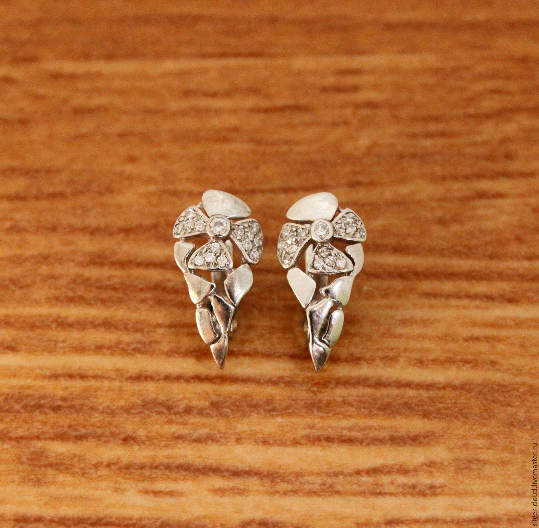 aea596ec90c5 Серебряные серьги Камелия, серебро 925 – купить в интернет-магазине на  Ярмарке ...