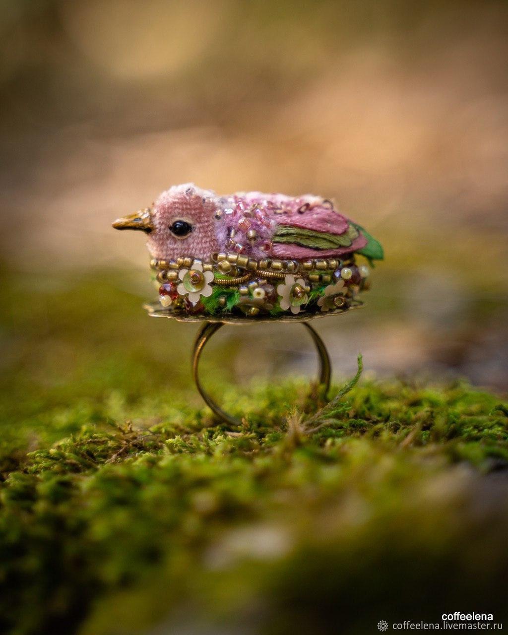 "Кольцо с птицей ""Дыхание осени"", Перстень, Краснодар,  Фото №1"