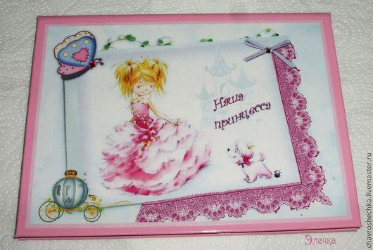 """Персональные подарки ручной работы. Ярмарка Мастеров - ручная работа. Купить """"Принцесса"""" Именная обложка на св-во о рождении. Handmade."""