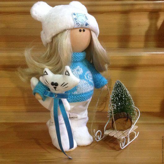 Куклы тыквоголовки ручной работы. Ярмарка Мастеров - ручная работа. Купить Куколка Алиса. Handmade. Бирюзовый, кукла, кукла интерьерная