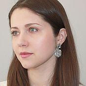 Украшения handmade. Livemaster - original item Earrings Monstera tropical Pusey. Handmade.