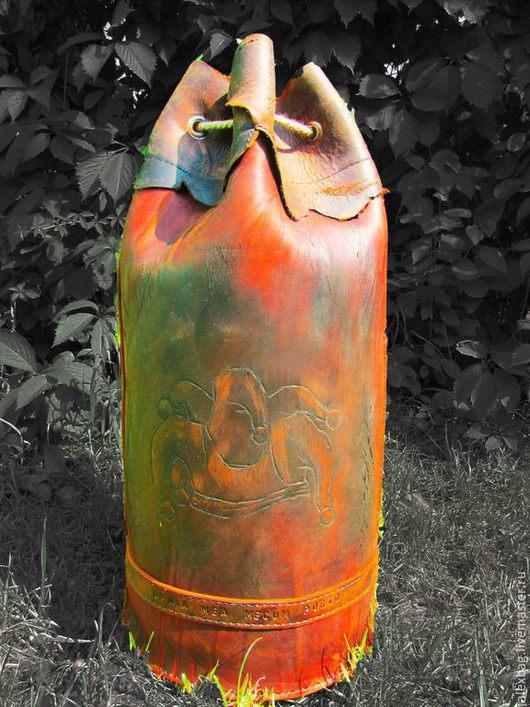 Мужские сумки ручной работы. Ярмарка Мастеров - ручная работа. Купить Кожаная тобра Дикая. Handmade. Торба, сумка