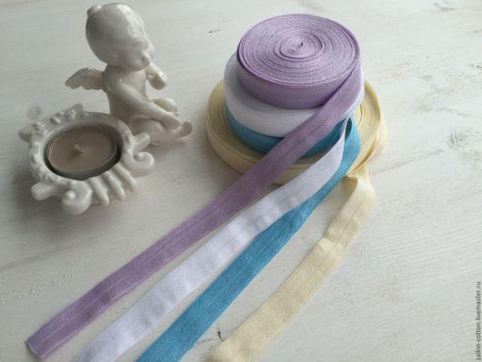 Шитье ручной работы. Ярмарка Мастеров - ручная работа. Купить Эластичная лента в ассортименте 4 цвета с перламутром 15 мм. Handmade.