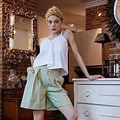 Одежда ручной работы. Ярмарка Мастеров - ручная работа Хлопоквый топ-майка, универсальный. Handmade.
