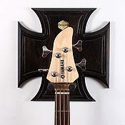 Музыкальные инструменты ручной работы. Ярмарка Мастеров - ручная работа CROSS - настенный держатель гитары. Handmade.