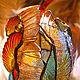 Освещение ручной работы. Заказать Витражный светильник в стиле тиффани-факел.,в ковку.. студия Преображение (Jenny555). Ярмарка Мастеров. витражи