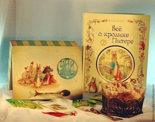 """Кухня ручной работы. Ярмарка Мастеров - ручная работа. Купить Чайная коробка """"Кролик Питер Пуш"""". Handmade. Разноцветный"""