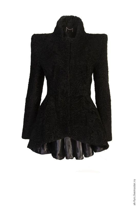 Пиджаки, жакеты ручной работы. Ярмарка Мастеров - ручная работа. Купить Пиджак из меха каракульчи черный. Handmade. Каракульча