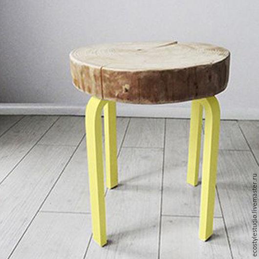 Мебель ручной работы. Ярмарка Мастеров - ручная работа. Купить Табуретка в стиле Lofteco. Handmade. Желтый, мебель прованс