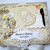 """Свадебный салон ручной работы. Ярмарка Мастеров - ручная работа Коробочка для денежного подарка""""Свадебная""""2. Handmade."""
