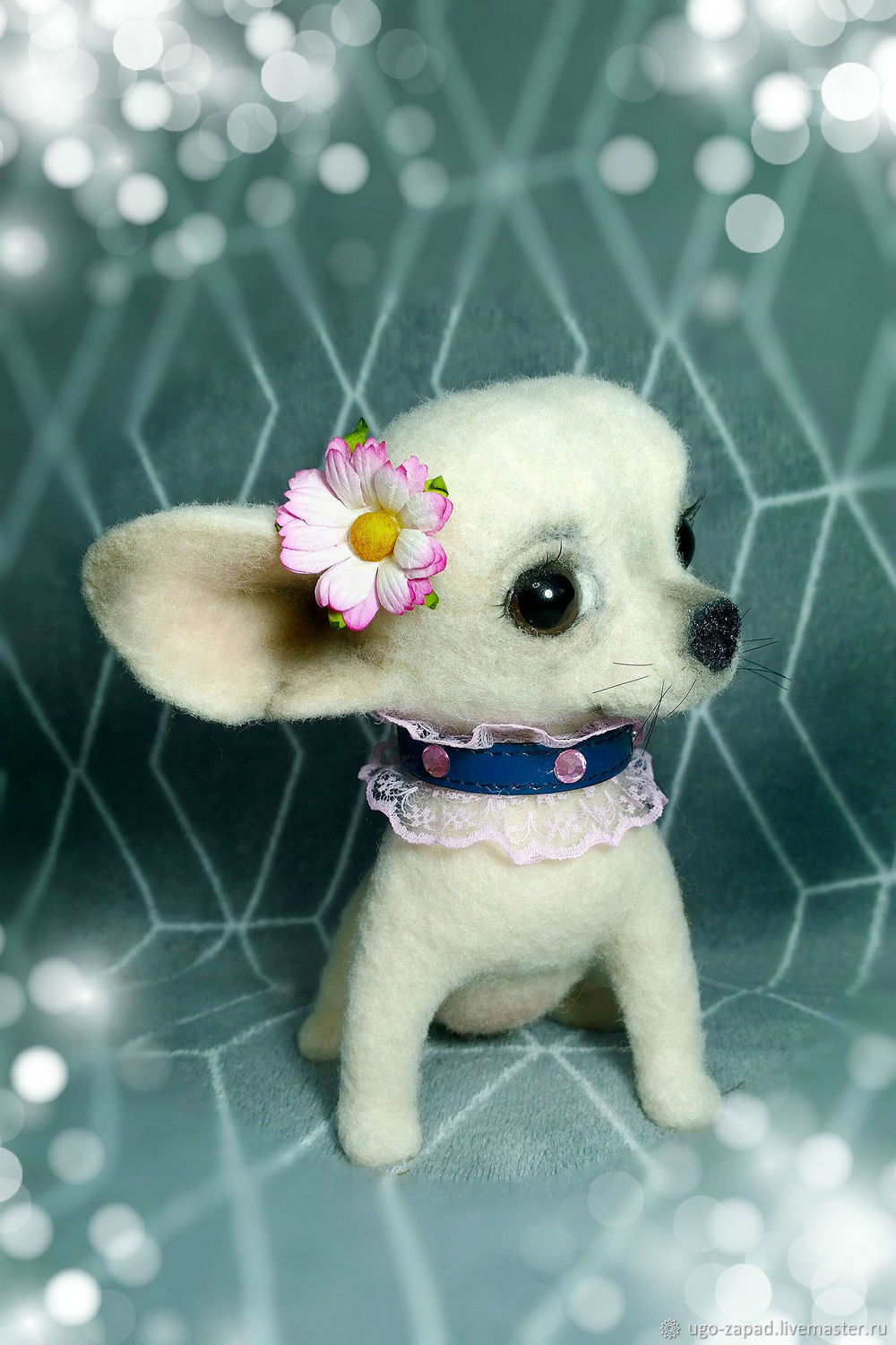Chihuahua Princess. The puppy felt, Felted Toy, Moscow,  Фото №1