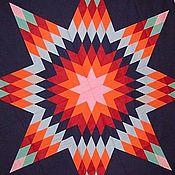 """Для дома и интерьера ручной работы. Ярмарка Мастеров - ручная работа Лоскутное покрывало  """"Звезда"""". Handmade."""
