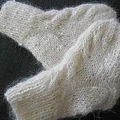Аксессуары ручной работы. Ярмарка Мастеров - ручная работа детские пуховые носочки. Handmade.