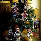 """Куклы и игрушки ручной работы. Ярмарка Мастеров - ручная работа Коллекция елочных игрушек из ваты """"Старинное Рождество"""". Handmade."""