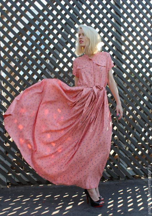 """Платья ручной работы. Ярмарка Мастеров - ручная работа. Купить Платье """"FLAMINGO"""". Handmade. Розовый, платье с широкой юбкой"""