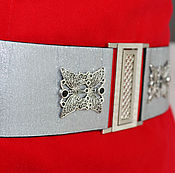 Аксессуары handmade. Livemaster - original item belt Butterfly Silver 1 Silver 60mm Wide for the dress. Handmade.