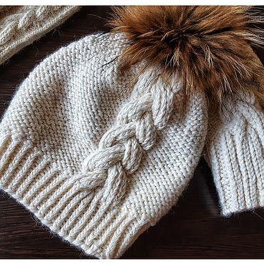 Одежда ручной работы. Ярмарка Мастеров - ручная работа Шапки: шапка с косой. Handmade.